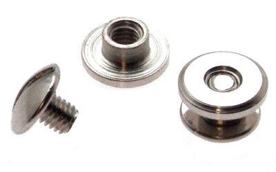 100 Stück Buchschrauben 2mm Kopf 7mm Silbern Chicagoschrauben Buchnieten