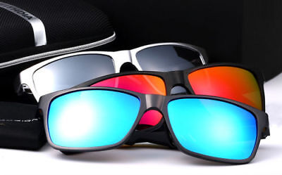 Men Aluminum Polarized Driving Sunglasses Sports Mirrored Sun Glasses (Aluminum Eyewear)