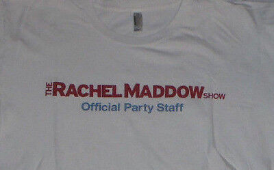 Euc Rare Collectible Trms Rachel Maddow Show Tee Shirt L American Apparel White