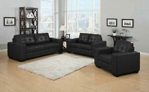 CANADIAN MADE AIR LEATHER  3PCS SOFA SET ONLY $999LOWEST PRICES