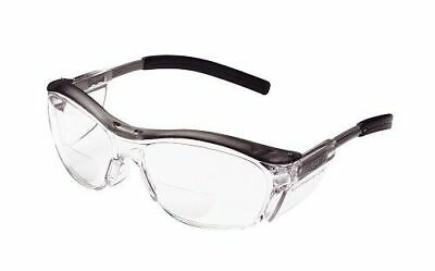 3m 11436 Nuvo Reader Protective Eyewear Clear Lens Gray Frame 2.5 Diopter