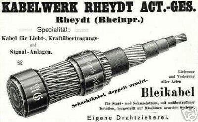 Kabelwerk Rheydt AG histor. Aktie 1925 Nexans MönchenGladbach AEG Alcatel Alstom