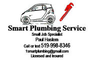Smart Plumbing Service, your small job specialist!