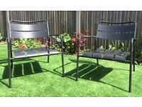 Outdoor metal chairs 2 + 1