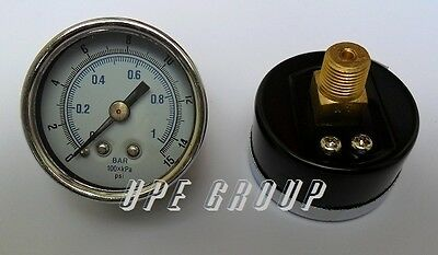 New Air Pressure Gauge Air Compressor Hydraulic 1.5face 0-15 Back Mnt 18npt