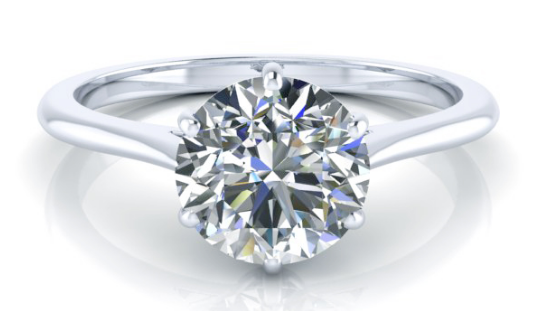 0.71 CTW GIA Solitaire Diamond Ring Round Brilliant D Color VVS2 Clarity