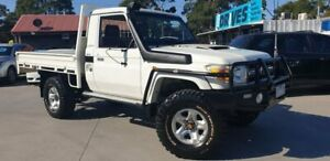 2010 Toyota Landcruiser VDJ79R MY10 GXL White 5 Speed Manual Cab Chassis