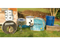 FOR SALE A SIX PIECE ROGERS DRUM KIT.