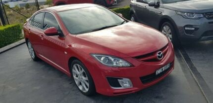 2009 Mazda 6 GH1051 MY09 Luxury Sports Red 6 Speed Manual Hatchback Taylors Beach Port Stephens Area Preview