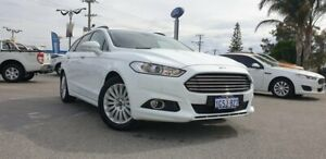 2017 Ford Mondeo MD 2017.00MY Trend PwrShift White 6 Speed Sports Automatic Dual Clutch Wagon Morley Bayswater Area Preview