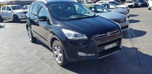 2014 Ford Kuga TF MY15 Titanium PwrShift AWD Black 6 Speed Sports Automatic Dual Clutch Wagon Taylors Beach Port Stephens Area Preview
