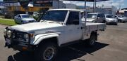 1995 Toyota Landcruiser White 5 Speed Manual Trayback Bungalow Cairns City Preview