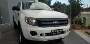 2015 Ford Ranger PX XL 2.2 Hi-Rider (4x2) White 6 Speed Automatic Crew Cab Pickup Southport Gold Coast City Preview
