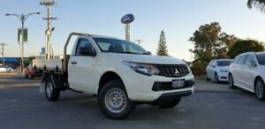 2017 Mitsubishi Triton MQ MY17 GLX 4x2 White 5 Speed Sports Automatic Cab Chassis Morley Bayswater Area Preview