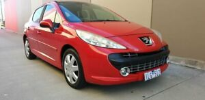 2007 Peugeot 207 A7 XT Red 4 Speed Sports Automatic Hatchback Cheltenham Kingston Area Preview