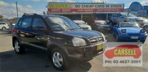 2007 Hyundai Tucson JM Black 4 Speed Sports Automatic Wagon Campbelltown Campbelltown Area Preview