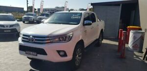 2017 Toyota Hilux GUN126R SR5 Double Cab White 6 Speed Sports Automatic Utility Taylors Beach Port Stephens Area Preview