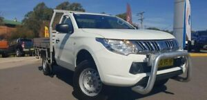 2015 Mitsubishi Triton MQ MY16 GLX 4x2 White 5 Speed Sports Automatic Cab Chassis Goulburn Goulburn City Preview