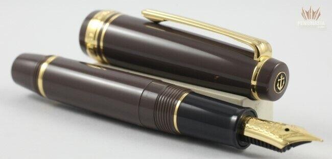 Sailor Progear Slim (sapporo) Mini Taupe With Gold Trim Fountain Pen Magnificent