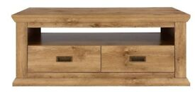 Clifton Coffee Table, *Rustic Oak*. H 50, W 120, D 60 cm