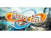 4 x Thorpe Park tickets bank holiday Monday 27/8/18