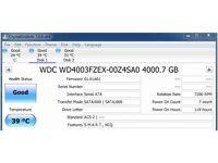 Western Digital 4TB Black Hard Drive, just 5 days usage + 100% health