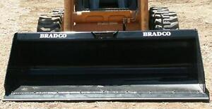 Bradco Extended Floor Heavy Duty Dirt Buckets c/w bolt on edge