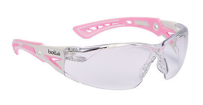 Bolle RUSH+ PLUS Safety Spectacles Glasses Eye Wear PINK Clear Lens - RUSHPPSI