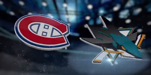 Canadiens Montreal vs San Jose Sharks 2 Janvier BLANC *25%OFF*