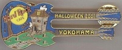 Hard Rock Cafe Yokohama 2001 Halloween Pin Spukhaus Dn Guitar - Hrc #10611