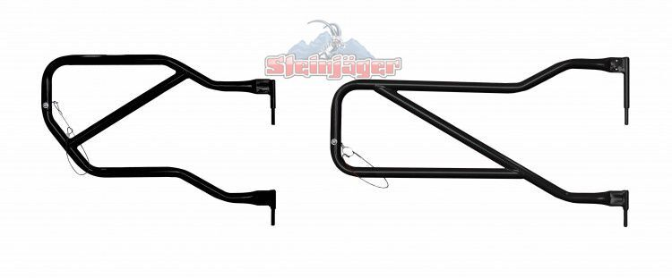Steinjager Front and Rear Tube Doors for Jeep Wrangler JKU