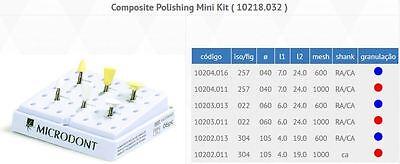 Microdont Usa Composite Polishing Mini Kit 3 Shapes 2 Grit Sizes 6pcs