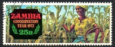 Zambia 1972 Nature Conservation Year - Agriculture 25N Superb Used Stamp