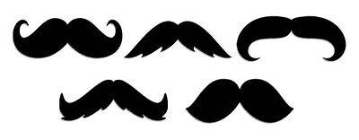 Mustache Cut Out Silhouettes ~ Die Cut Mustache Shapes ~ Set of 10](Mustache Cut Outs)
