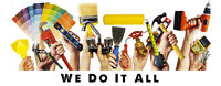 Electrical, Plumbing, Carpentry, Painting -Handyman Services
