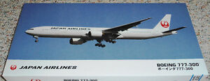 Hasegawa 1/200 Boeing 777-300 Japan Airlines new color