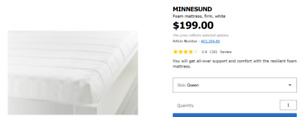 For selling before December 19, Ikea furniture used for 1 year