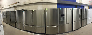 ASSORTED STOCK STAINLESS STEAL FRIDGES -1 YEAR WARRANTY!