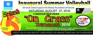 """Splash """"On Grass"""" Volleyball Tournament"""
