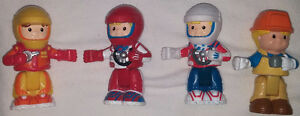 Qty 2 x Fisher Price Little People Poseable / Moving Figures