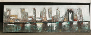 Original oil painting New York Brooklyn Bridge