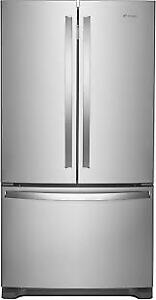 "Whirlpool 36"" 25.2 cu ft Rrench Door With Water Dispenser"