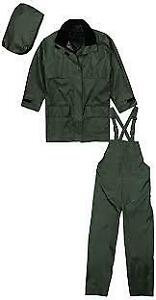 NEW TERRA GREEN 3 PIECE RAIN SUIT XXL TAGS ATTACHED