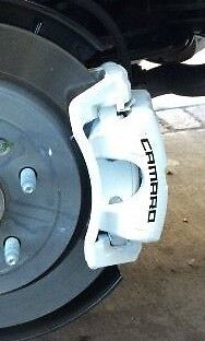 Chevy Camaro Curved Brake Caliper Vinyl Decal Sticker (Any Color) Set Of 4 Chevy Camaro Front Brake