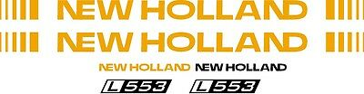 New Holland L553 Skid Steer L 553 Replacement Decal Sticker Kit Made In Usa