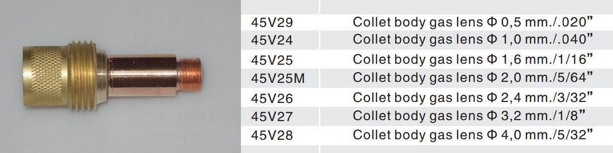 "3 pcs 45V28 Collet Body Gas Lens for Tig Welding Torch WP-17-18-26 4.0mm 5//32/"""