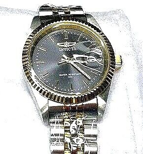 Invicta Silver and Gold Men's Bracelet Watch. 32135