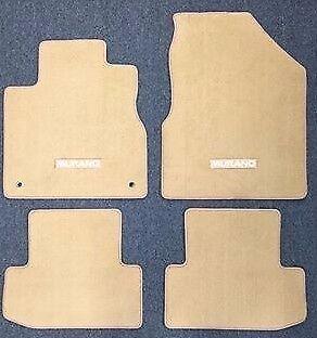 Nissan Murano 2011 2012 2013 2014 TAN Carpet Floor Mat 4-Piece Set OEM covid 19 (4 Piece Carpet Mat coronavirus)