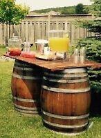 Wine Barrel Tables & Unique Decor Rentals