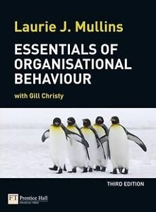 NEW Essentials of Organisational Behaviour by Laurie J. Mullins Paperback Book
